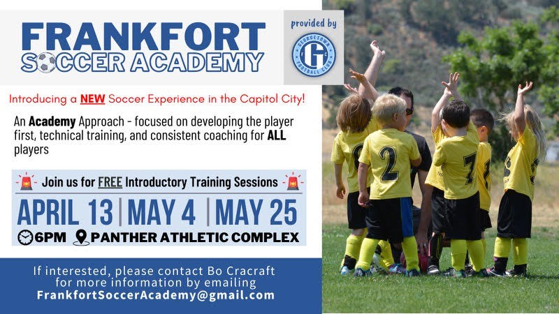 Join us for free clinics as we launch the Frankfort Soccer Academy